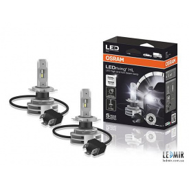 Светодиодная автолампа Osram H4 LED 12/24V 14W 6000K P43T комплект (2шт)