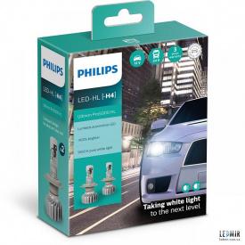 Светодиодная автолампа Philips H4 12/24V 15W P43T комплект (2шт)