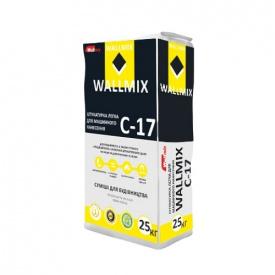 Штукатурка цементно-известковая для машинного нанесения Wallmix С-17 25 кг