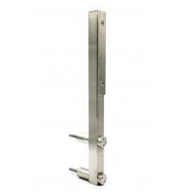 Стойка для стекла с боковым креплением и прижимной пластиной (нержавейка) 600мм