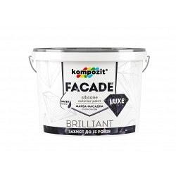 Краска фасадная KOMPOZIT силиконовая Facade Luxe 14 кг