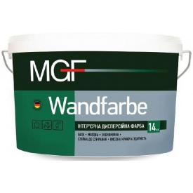Краска для внутренних работ MGF Wandfarbe M 1a белая 14 кг