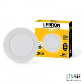 Светодиодный светильник Lebron Круг 9W-4100K