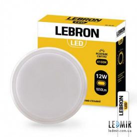 Светодиодный светильник Lebron Круг 12W-4100K Белый с датчиком движения