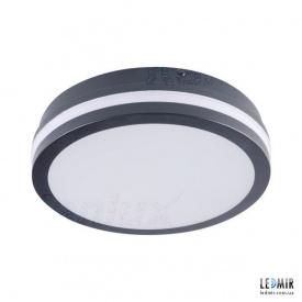 Светодиодный светильник Kanlux BENO Круг накладной 18W-4000К черный с датчиком движения