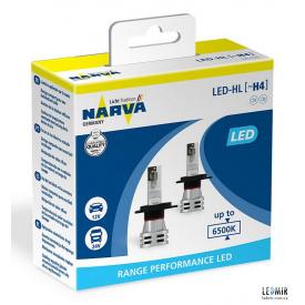 Светодиодная автолампа NARVA H4 12/24V 24W P43T комплект (2шт)