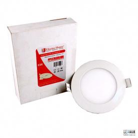 Світлодіодна панель ElectroHouse 6W-4100К кругла