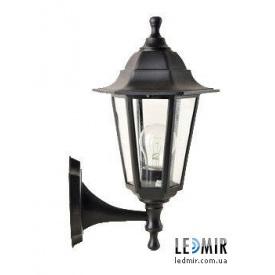 Фасадный садово-парковый светильник Кантри НС06 прозрачное стекло Черный