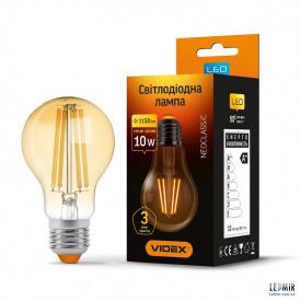 Светодиодная лампа Videx Filament A60 10W-E27-2200K Бронза
