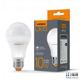 Светодиодная лампа Videx A60 10W-E27-4100K с сумеречным датчиком
