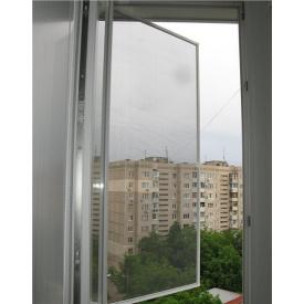 Москитная сетка на окна (на петлях) Коричневая 110 190