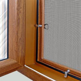 Внутренняя антимоскитная сетка на окна (на креплениях) Коричневая 140 80