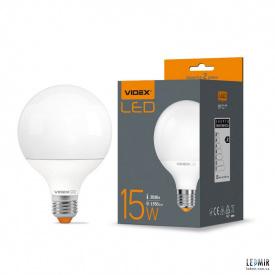 Світлодіодна лампа Videx G95 15W-E27-3000К