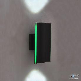 Фасадный светодиодный светильник Altaris Powerlux 6W 6500К серый с зеленой подсветкой