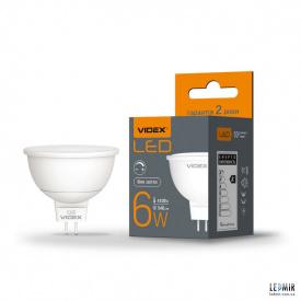 Світлодіодна лампа Videx MR16 dimm 6W-GU5.3-4100K