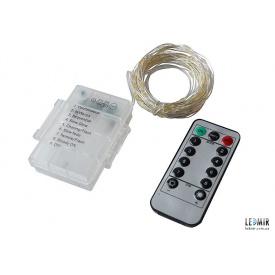 Светодиодная гирлянда Foton USB Garland белая теплая с пультом управления 3хАА 5 В IP68
