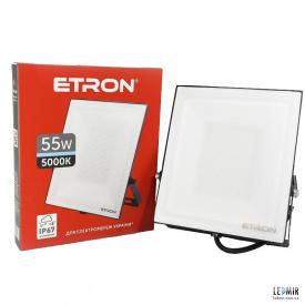 Светодиодный прожектор ETRON 1-ESP-208 55W-5000К черный