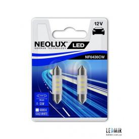 Світлодіодна Автолампа NEOLUX C5W 12V 0,5W SV8,5-8 комплект (2шт)