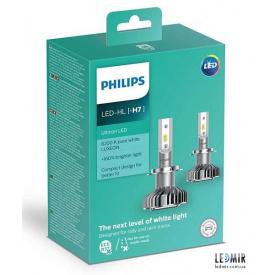 Светодиодная автолампа Philips H7 LED 12V 14W 6200K PX26D комплект (2шт)