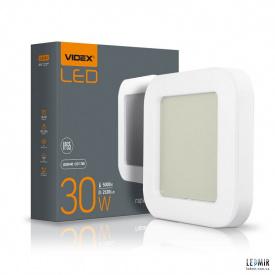 Светодиодный ART светильник Videx квадрат 30W-5000K Белый