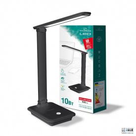 Светодиодная настольная лампа TITANUM 10W-3000-6500K Черная