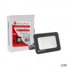 Светодиодный прожектор ElectroHouse 10W-6500K