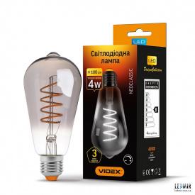 Светодиодная лампа Videx Filament ST64 4W-E27-2100K