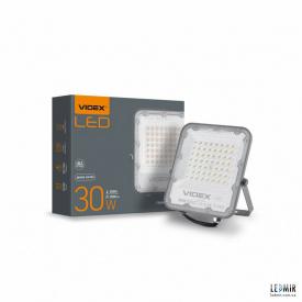 Светодиодный прожектор Videx 30W-5000K Gray