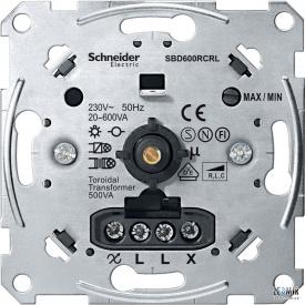 Механизм выключателя поворотно-нажимного Schneider Merten 20-600 Вт
