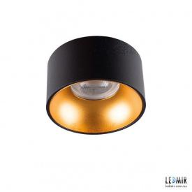 Встраиваемый светильник Kanlux MINI RITI GU10 B/G Черный / Золотой