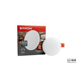 Светодиодный светильник ETRON Круг 1-EDP-605 12W-5000K
