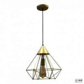 Потолочный подвесной светильник NL 0538G GRID золотой
