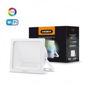 Светодиодный Smart прожектор VIDEX Wi-Fi 10W-RGB+3000-6500К