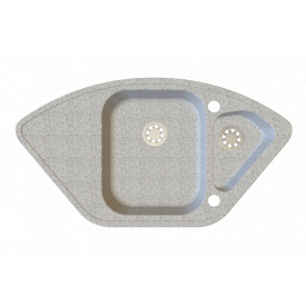 Гранітна мийка Idis Corner №5 920x490 Black