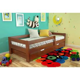 Детская кровать из натурального дерева сосны Альф 80х190 Новое Яблоня локарно