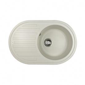 Гранітна мийка Idis Vectra №4 770x500 Vanilla