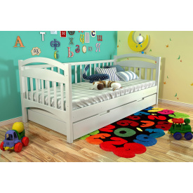 Кровать из массива Сосны Алиса Арбор 90х200 Белый