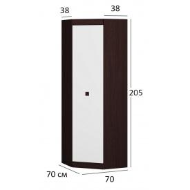 Шкаф кутовий 700 70х206 Венге темний