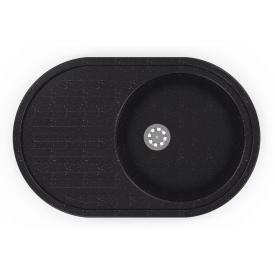 Гранітна мийка Idis Vectra №4 770x500 Black