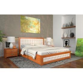 Двуспальная кровать с подъемным механизмом из дерева 160х200 щит Бука Рената Д Ольха