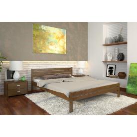 Двуспальная кровать из дерева 160х200 щит Сосны Роял Орех
