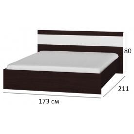 Ліжко двоспальне 160х200 Сфера 1600 Венге + білий