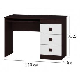 Стол письменный Сфера 110х55х76 см Венге + Белый