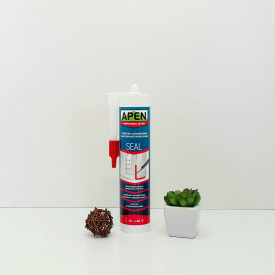 Герметик силиконовый санитарный прозрачный Apen Seal 280 мл.