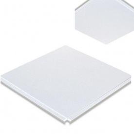 Кассета для потолка Армстронг из оцинкованной стали 600х600 мм белая