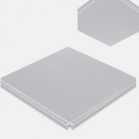Кассета для потолка из оцинкованной стали 600х600 мм серая
