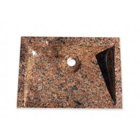 Раковина з червоного граніту Граніт-Поліс 50х35х10 см