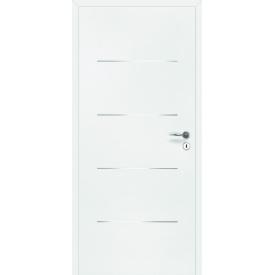 DesignLine Steel межкомнатные двери Huga поверхность имеет стильные металлические накладки 900х2000х140 цена за блок