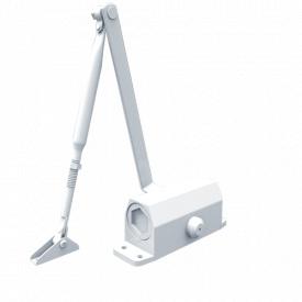 Доводчик дверний FRD B3 1000 до 65 кг до 950 мм з ножицями білий RAL 9016