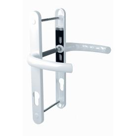 Нажимной гарнитур дверной ASTEX подпружиненный HERMES DHS 85/11 белый RAL 9016